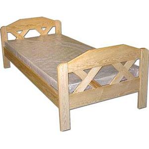 łóżka z krzyżowymi wstawkami