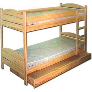 łóżka pietrowe z szufladą i bez